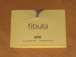 Fibula Lapel Pin by efe Jewelry
