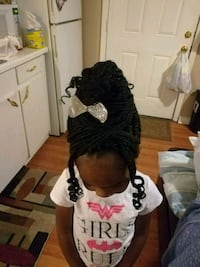 Hair styling box braids for kids