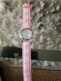 round silver analog watch with pink leather strap Kelowna, V1X 2C4