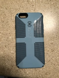 grey and black Speck iPhone case