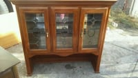 brown wooden framed glass cabinet Los Angeles, 91605