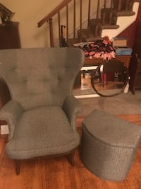 Upholstered chair with matching hamper  46 km