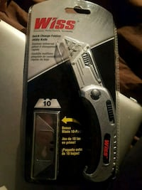 Wiss Quick Change Folding Utility Knife + 10 Blade Vaughan, L4H 1H9