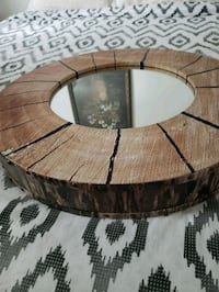 round brown wooden framed glass-top coffee table Toronto, M4K 2E9