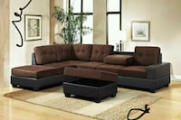 Heights Chocolate/Black Reversible Sectional  1201 mi