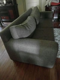 brown fabric sofa chair with ottoman Riverside