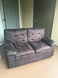 Black Suede Loveseat