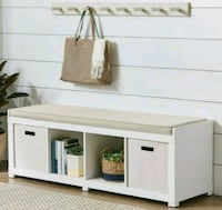 Better Homes and Gardens 4-Cube Organizer Bench, W