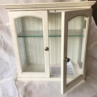 white wooden framed glass cabinet Los Angeles, 90042