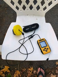 battery operated portable fish finder.