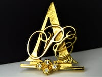 1992 Avon Honor Society, Sales Representative Pin, Rhinestone Brooch Pin Manchester