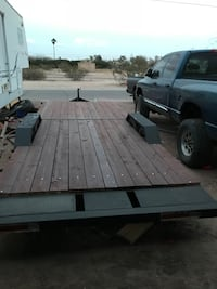 Black and brown flat bed trailer Casa Grande, 85122