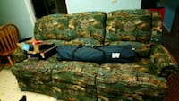 green and brown floral fabric 3-seat sofa Calgary, T1Y 4V7