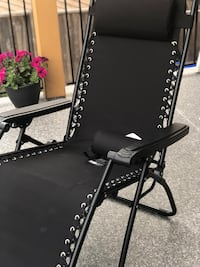 Black lawn chair  Surrey