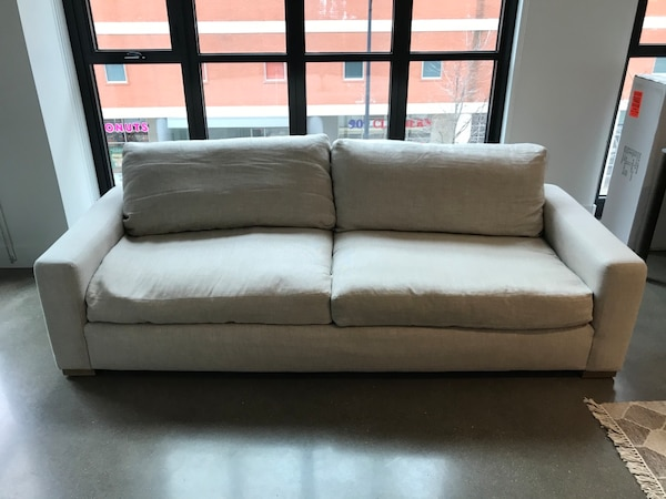 Maxwell upholstered sofa only Belgian linen - Restoration Hardware d2361779-1ac0-44bf-8951-58f581c96948