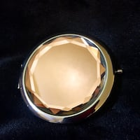 Silver and Peach Gem Compact Mirror & Gift Box San Antonio