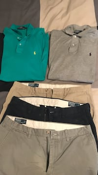 men's assorted pants with polo shirts Raleigh, 27603