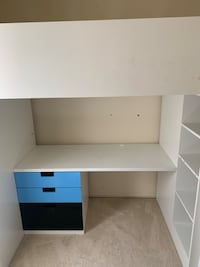 IKEA Bunkbed!! This is a bunkbed with a study area and mini closet to store toys. It also comes with bookshelves.  Columbia, 21044