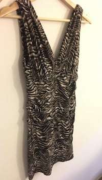 Black and brown zebra print sleeveless dress size small Montréal, H3H