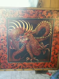4x4 hand painting of Dragom