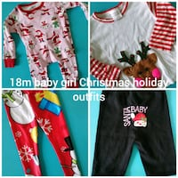 12-18month baby girl Christmas holiday outfits Surrey