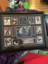 Canucks framed memorabilia