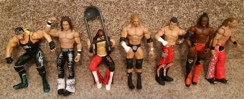 "Seven (7) Wrestling Figures 6""/7""  $55 for the lot or $10 each  Pick-up in Newmarket  (Ref # Lot A/Bx11)"