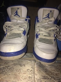 Pair of white air jordan basketball shoes Pickering, L1V 3W4