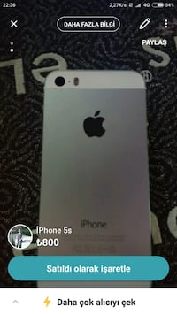 Beyaz kasa iPhone 5s Zile, 60400