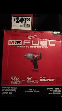 """Milwaukee M18 1/2"""" Impact Wrench High Torque with Friction Ring New York, 11432"""