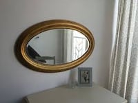 """Gold large oval mirror 23""""x37"""" Vancouver"""