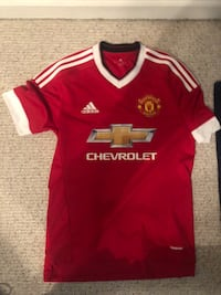 red and white Adidas jersey shirt Stafford, 22554