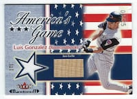 LUIS GONZALEZ 2002 Fleer Maximum America Star Stripe Game Used JERSEY BAT #04/25 Diamondbacks Las Vegas