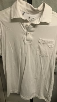 Men's size small Under armor polo. White, bright and clean