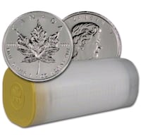 Silver Maple Leaf Coins - Tube 25