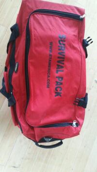 red and black The North Face backpack Los Angeles, 90069