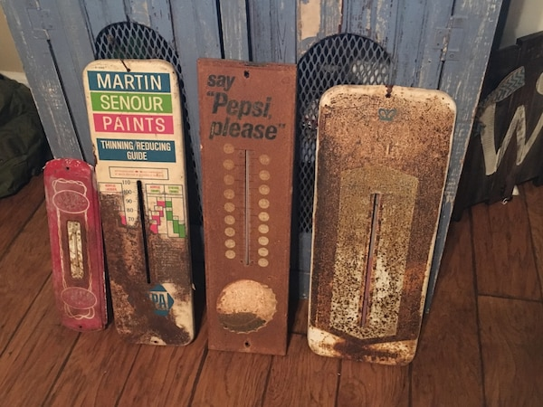 Used Vintage Advertising Thermometers (RC Cola,Pepsi,Napa