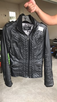black leather zip-up jacket Clarksburg, 20871