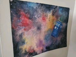 TARDIS Doctor Who Painting