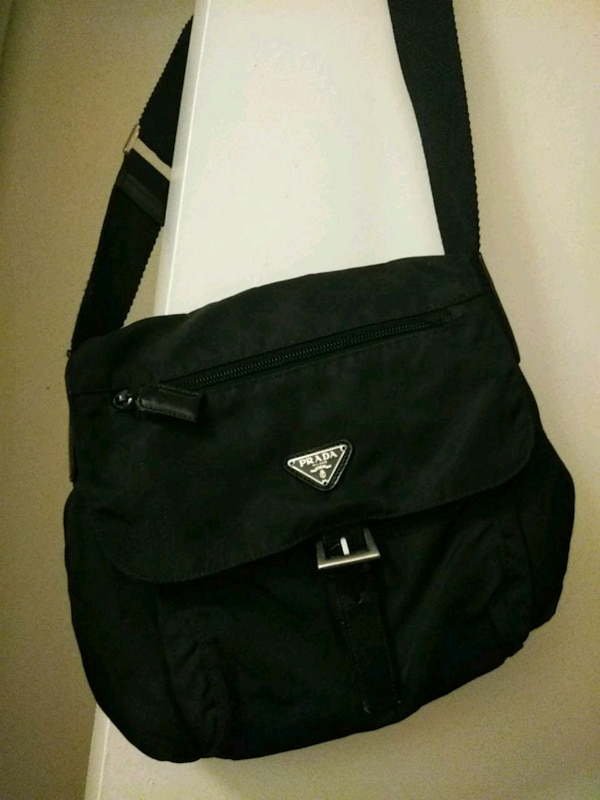 f6bee9887e98ed Used PRADA black nylon crossbody woman's bag . for sale in San Jose - letgo