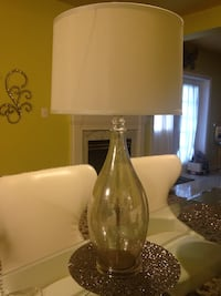 clear glass base with white lampshade table lamp Ellicott City, 21042