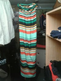 green and black striped sleeveless maxi dress Edmonton, T5X 4H7