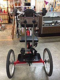 Adult's black and red trike