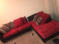 red and black sectional couch Dallas, 75201