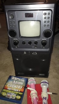 Karaoke machine with music and two microphones Sand Springs