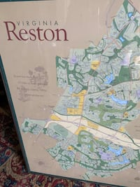 Picture of Reston with map Reston, 20191