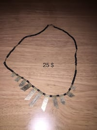 Black and gray necklace with pendant Baltimore, 21236