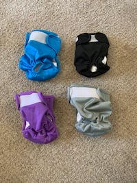 LUXJA Reusable Female Dog Diapers, Washable Wraps for Female Dog Rockville, 20850
