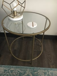 round white metal framed glass top table Washington, 20002