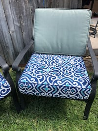 blue and white floral padded armchair Lakewood, 80232